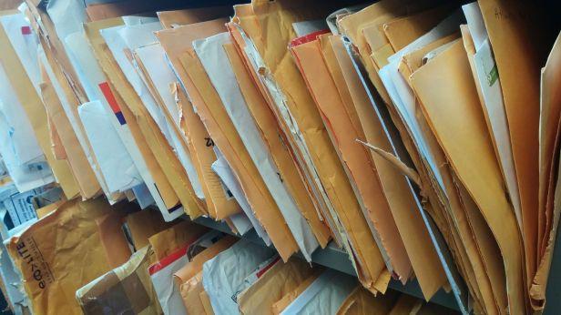 Kathleen's mail shelf
