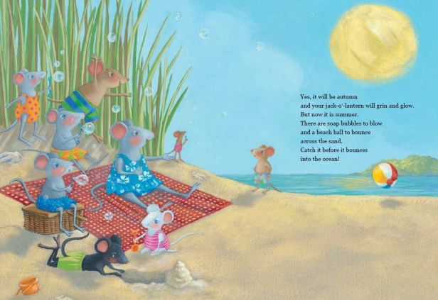 Interior illustration by Mary Newell DePalma from Now It Is Summer.