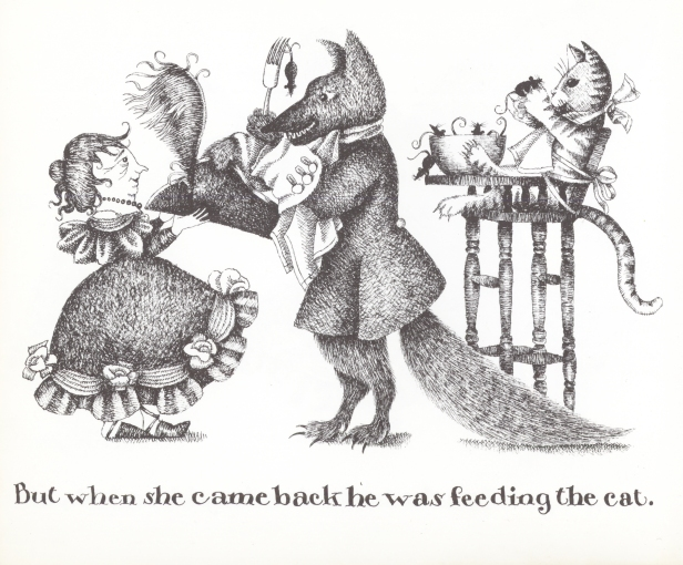 One of Amanda's Mother Hubbard illustrations