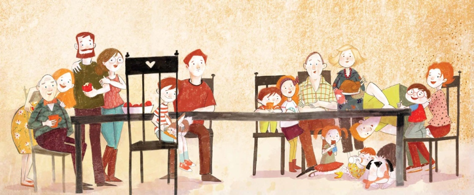 An illustration from One Big Family