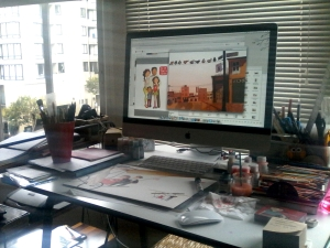 Sara's studio