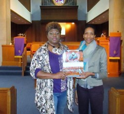 Michele Wood with Pastor Rae Karim of Northwood Christian Church