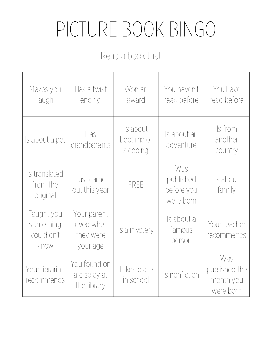 Picture Book Bingo