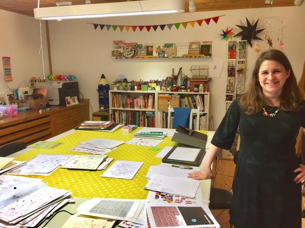 Kristin in her studio