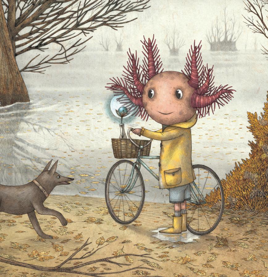 Boris with Bike and Dog