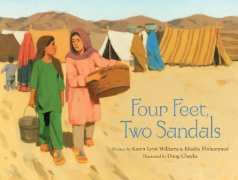 Four Feet, Two Sandals Children's illustrated picture book about friendship kids illustrated book.jpg