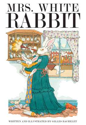 Mrs. White Rabbit Childrens illustrated books for kids