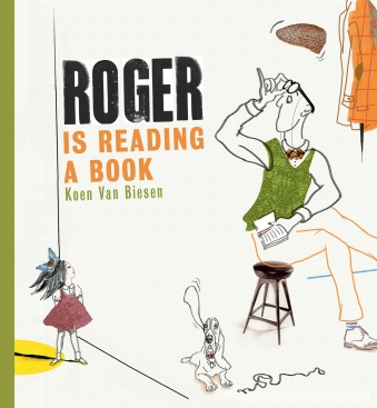 Roger is Reading a Book Children's illustrated picture book about friendship kids illustrated book