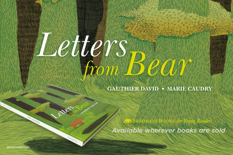 Letters from bear cute childrens picture book illustrated