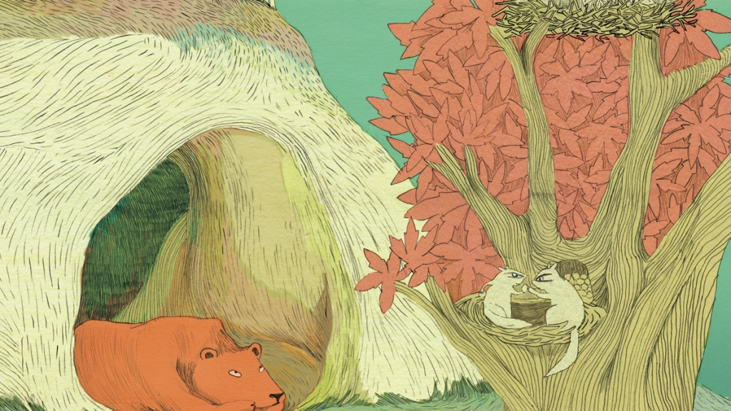letters from bear children illustrated picture book for kids