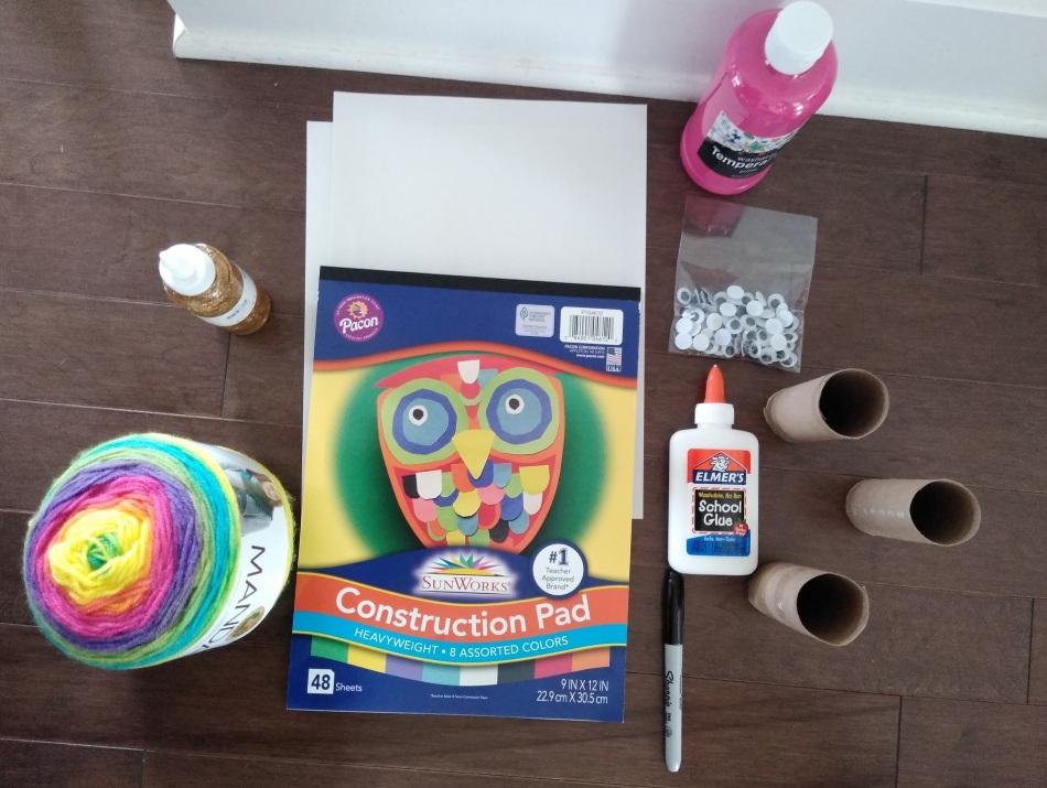 unicorn toilet paper craft for children
