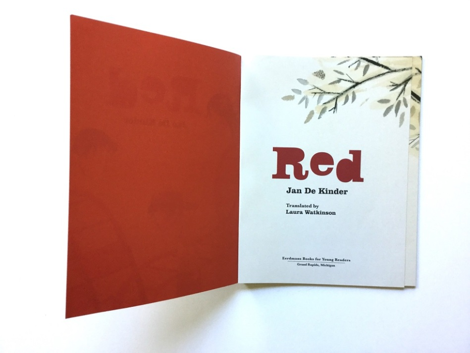 RED children's book by Author and Illustrator Jan De Kinder