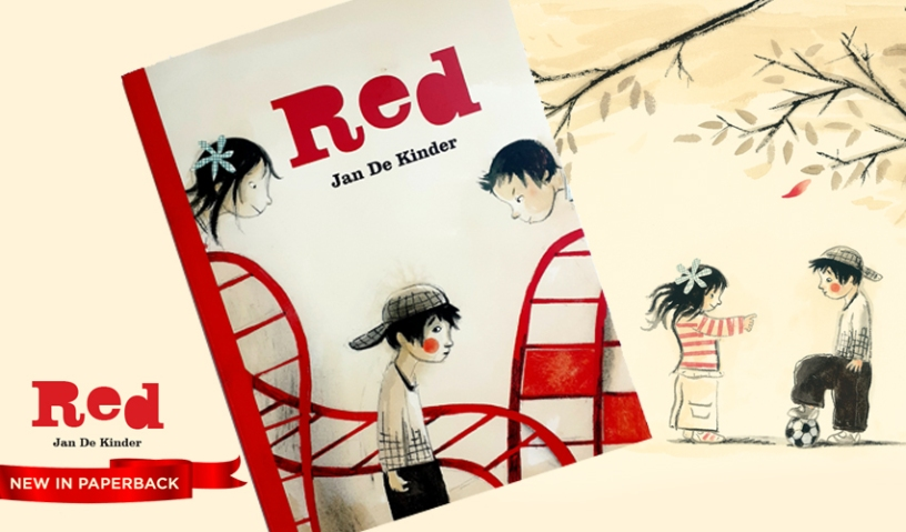 RED Jan de Kinder Children's book in paperback