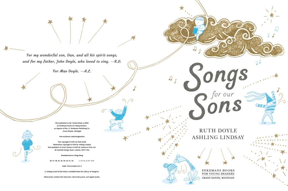 Songs for Our Sons Written by Ruth Doyle Illustrated by Ashling Lindsay picture book page 4-5