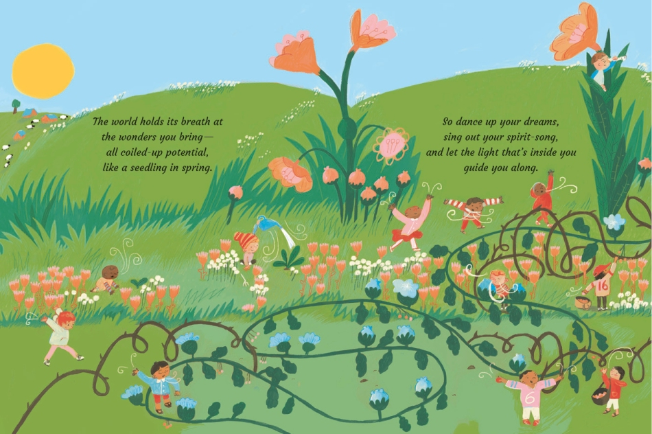 Songs for Our Sons Written by Ruth Doyle Illustrated by Ashling Lindsay picture book page 8-9