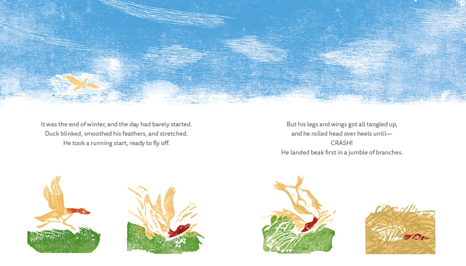 The Bear and the Duck children's picture book illustrated book page 6-7