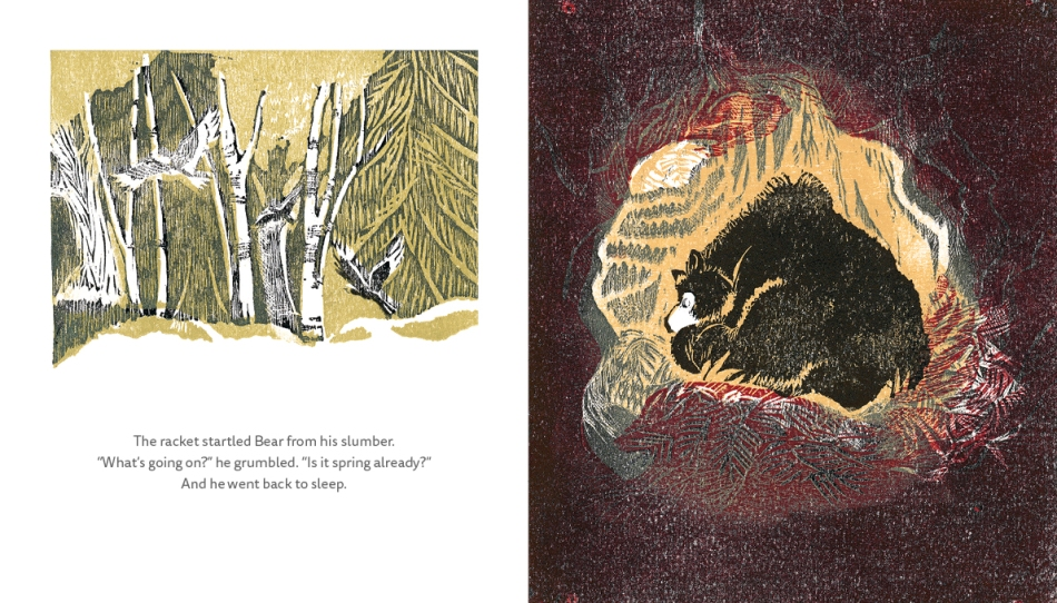 The Bear and the Duck children's picture book illustrated book page 8-9