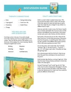 Birdie Children's Books Discussion Guide kids books