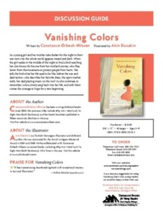 Vanishing Colors Children's Books Discussion Guide