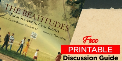 The Beatitudes kids books discussion guide printable
