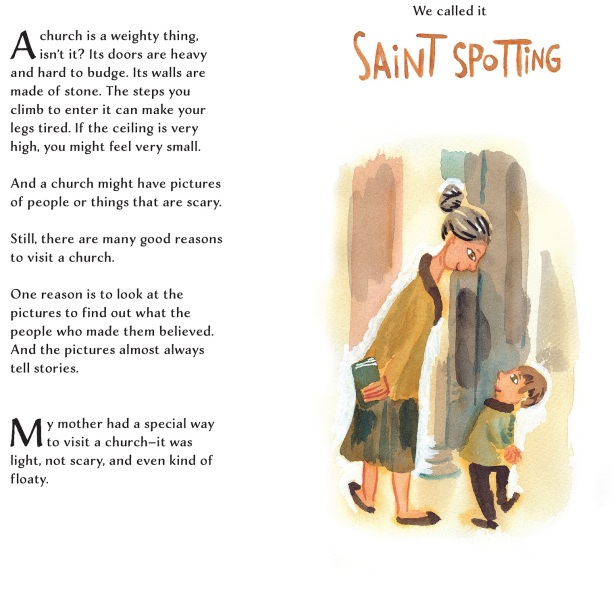 Saint Spotting childrens book Chris Raschka