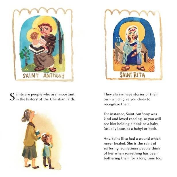 Saint Spotting picture book for kids