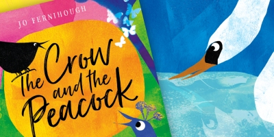 The Crow and the Peacock illustrated picture book for children